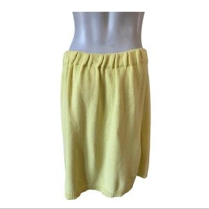 M Missoni Yellow Knit Skirt Medium